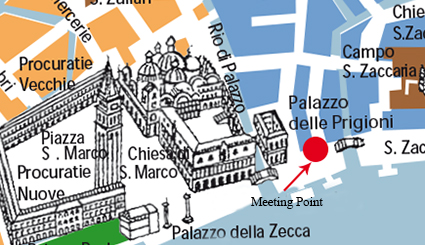 Meet Antonio Barbini in front of Danieli Hotel near St. Mark's Square